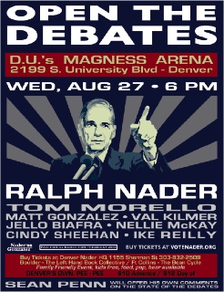 D-Day Denver: Nader Protest Rally Tonight .
