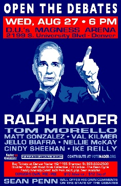 Kilmer, Sheehan, Morello with Nader in Denver .